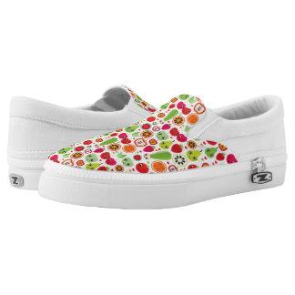 fruit kids illustration apple Slip-On shoes