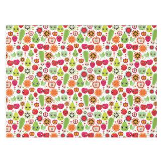 fruit kids illustration apple tablecloth