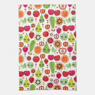 fruit kids illustration apple tea towel