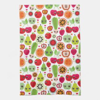 fruit kids illustration apple tea towel