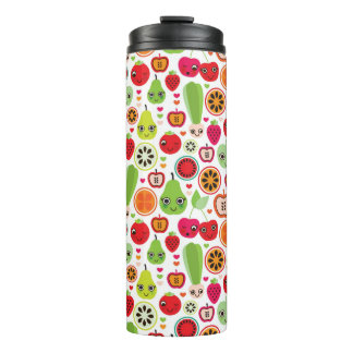 fruit kids illustration apple thermal tumbler