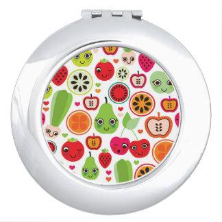 fruit kids illustration apple travel mirrors