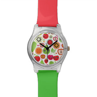 fruit kids illustration apple wristwatches