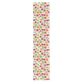 fruit kids illustration short table runner