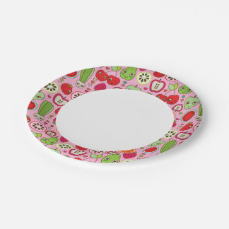 fruit kitchen illustration pattern 7 inch paper plate
