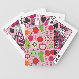 fruit kitchen illustration pattern bicycle playing cards