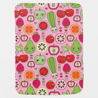 fruit kitchen illustration pattern buggy blanket
