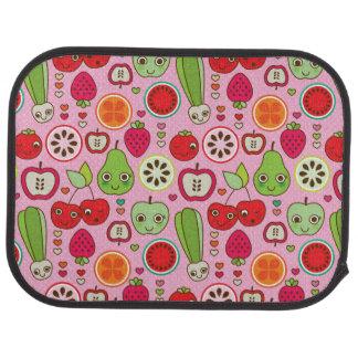 fruit kitchen illustration pattern car mat