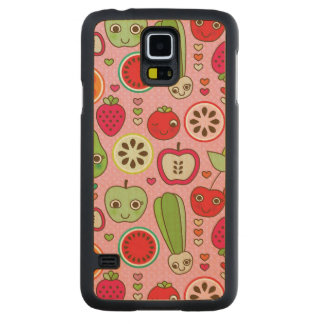 fruit kitchen illustration pattern carved maple galaxy s5 case