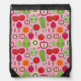 fruit kitchen illustration pattern drawstring bag
