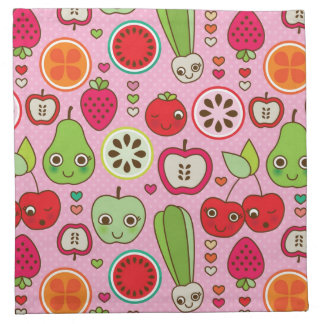 fruit kitchen illustration pattern napkin