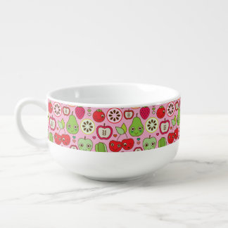 fruit kitchen illustration pattern soup mug