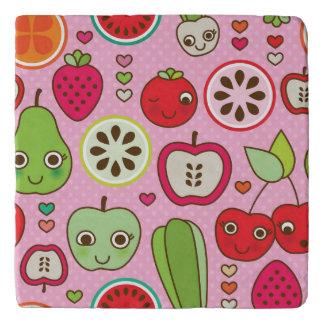 fruit kitchen illustration pattern trivet