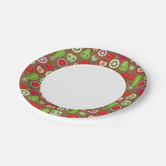 Fruit Kitchen Pattern 7 Inch Paper Plate