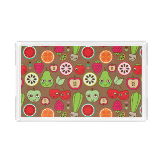 Fruit Kitchen Pattern Acrylic Tray