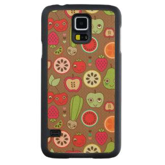 Fruit Kitchen Pattern Carved Maple Galaxy S5 Case