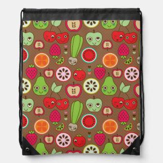 Fruit Kitchen Pattern Drawstring Bag