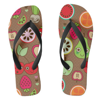 Fruit Kitchen Pattern Flip Flops