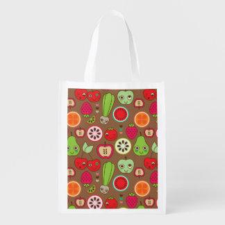Fruit Kitchen Pattern Reusable Grocery Bag