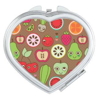 Fruit Kitchen Pattern Travel Mirror