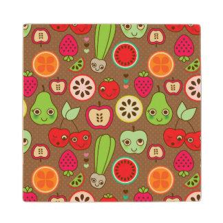 Fruit Kitchen Pattern Wood Coaster