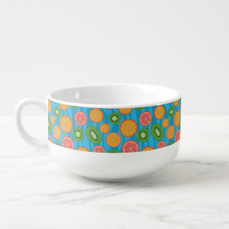 Fruit mood soup bowl with handle