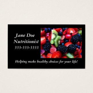 Fruit nutrition card. business card