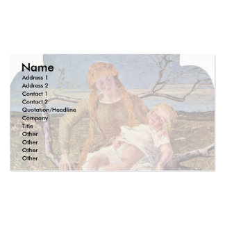 Fruit Of Love By Segantini Giovanni Pack Of Standard Business Cards
