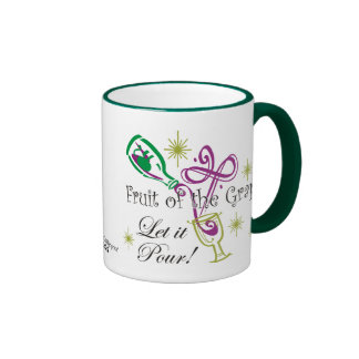 Fruit of the Grape Red Wine, Let it Pour! Ringer Mug