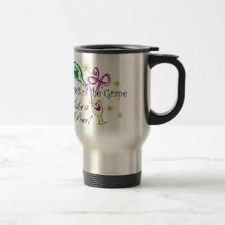 Fruit of the Grape Red Wine, Let it Pour! Stainless Steel Travel Mug