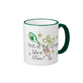 Fruit of the Grape White Wine, Let it Pour! Ringer Mug