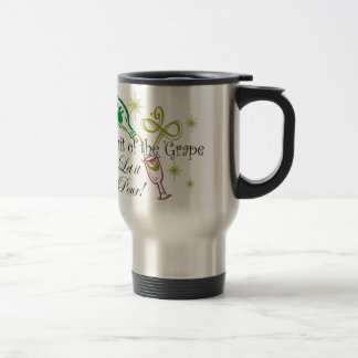 Fruit of the Grape White Wine, Let it Pour! Stainless Steel Travel Mug