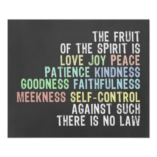 Fruit of the Spirit Chalkboard Look Bible Verse