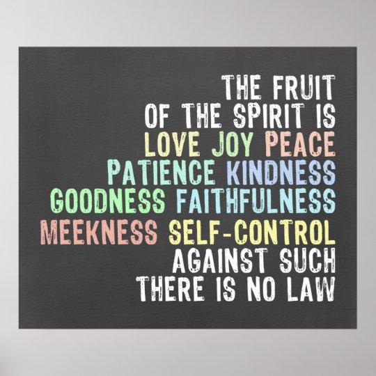 Fruit of the Spirit Chalkboard Look Bible Verse