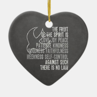 Fruit of the Spirit Chalkboard Look with Dove Christmas Ornaments