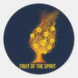 Fruit of the Spirit - Galatians 5:22-23 Round Sticker