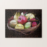 Fruit of the Spirit, Painted Brown Basket Puzzle