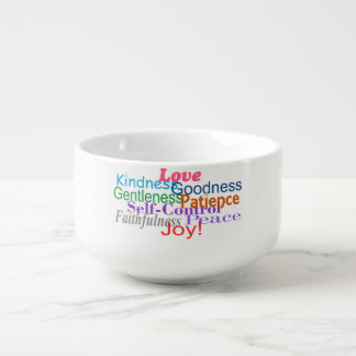 Fruit of the Spirit Soup Bowl With Handle