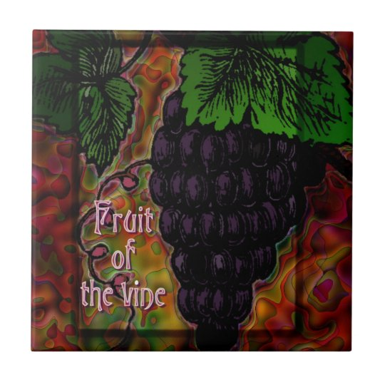Fruit of the Vine Decorative Ceramic Tile