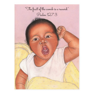 Fruit of Womb a Reward ~ Newborn Postcard