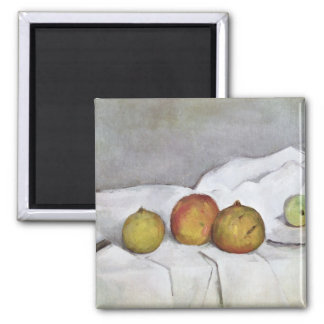 Fruit on a Cloth, c.1890 Square Magnet