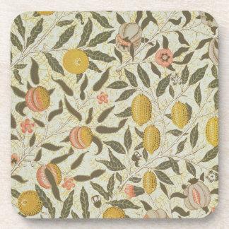 Fruit or Pomegranate wallpaper design Beverage Coaster