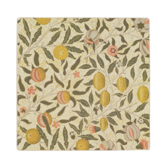Fruit or Pomegranate wallpaper design Maple Wood Coaster