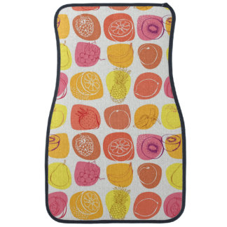 Fruit pattern car mat