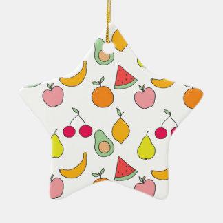 fruit pattern christmas ornament