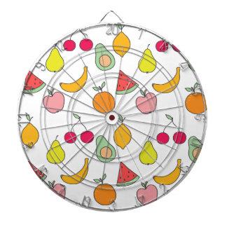 fruit pattern dartboard