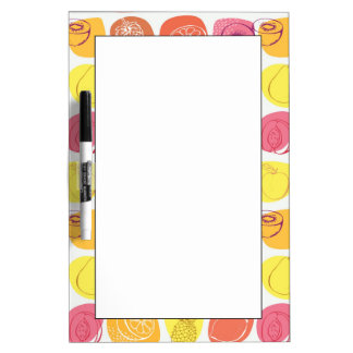 Fruit pattern dry erase board
