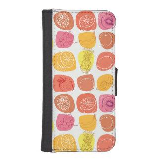 Fruit pattern iPhone SE/5/5s wallet case