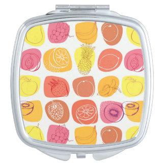 Fruit pattern makeup mirror