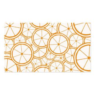 Fruit Pattern - Oranges Pack Of Standard Business Cards